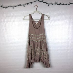 Free People | Voile and Lace Trapeze Slip Dress S